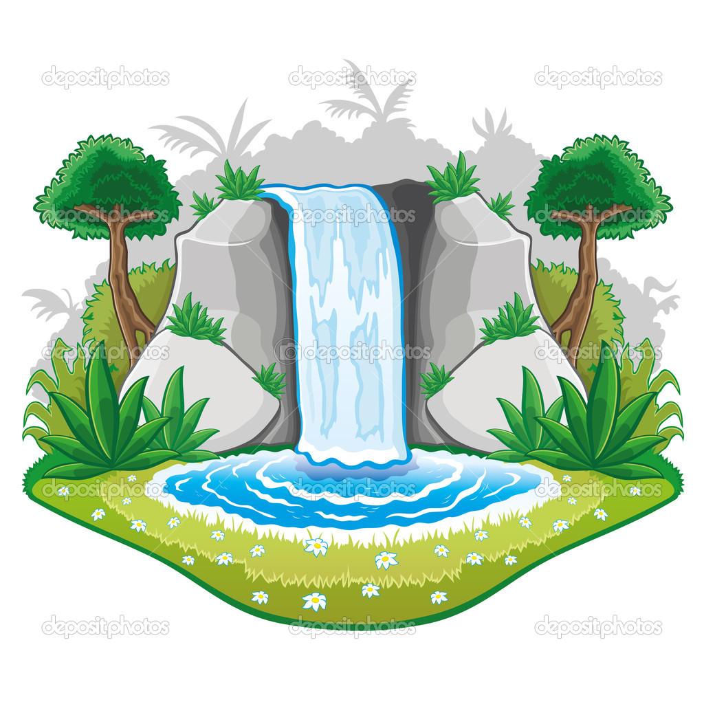 Waterfall clipart #9
