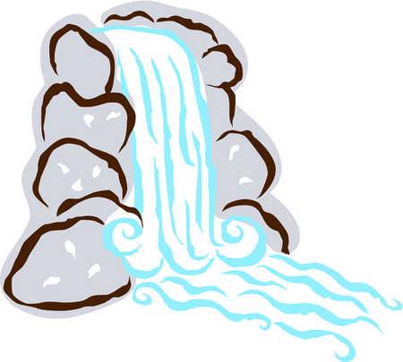 Waterfall clipart #7