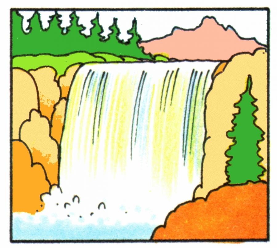 Waterfall clipart #11