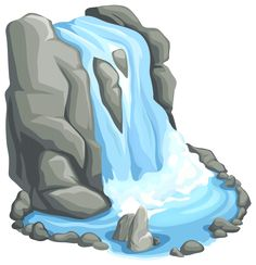 Waterfall clipart Waterfall clipart for شلال collection