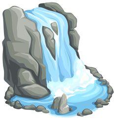 Scenery clipart waterfall #11