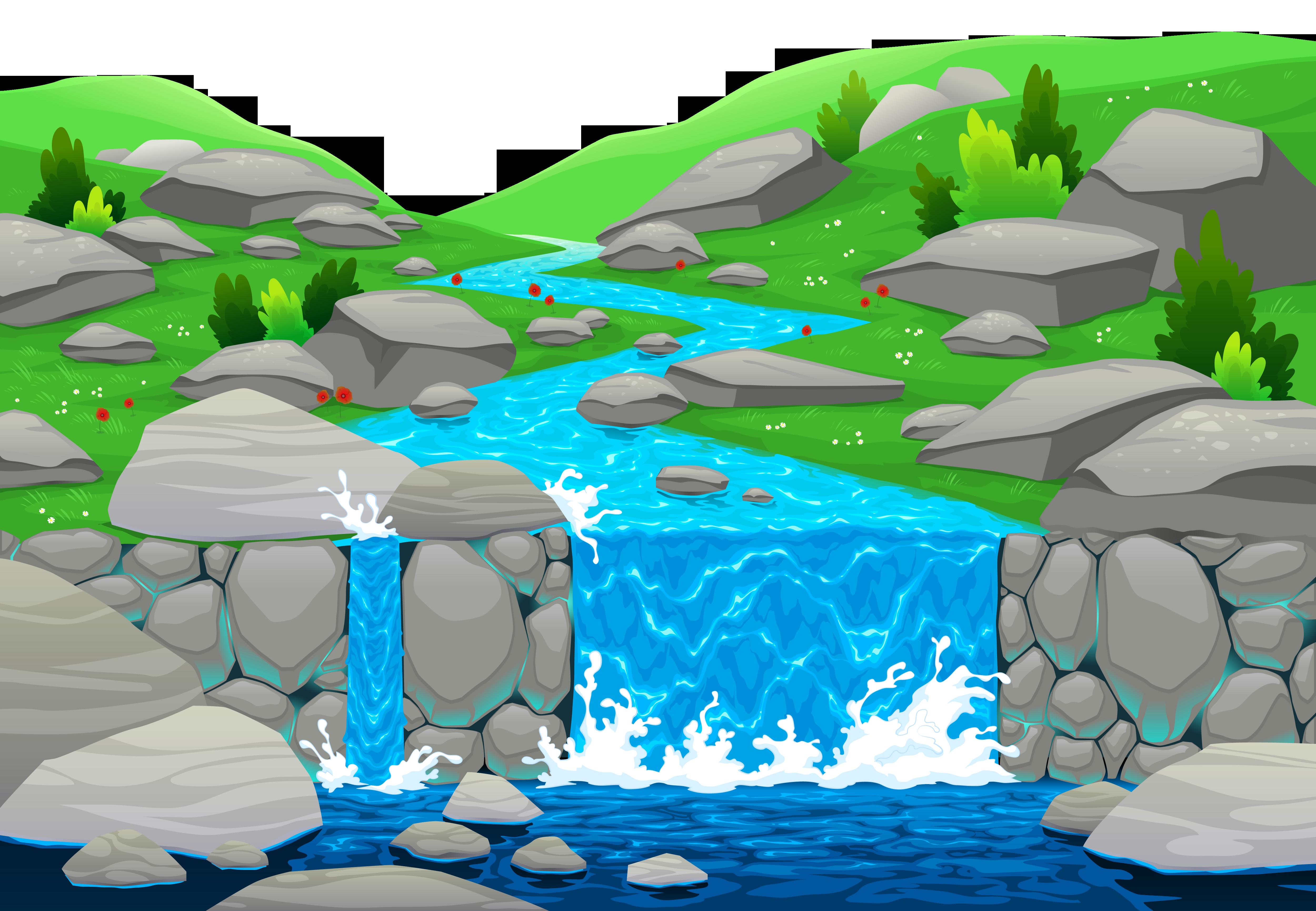 Waterfall clipart #12