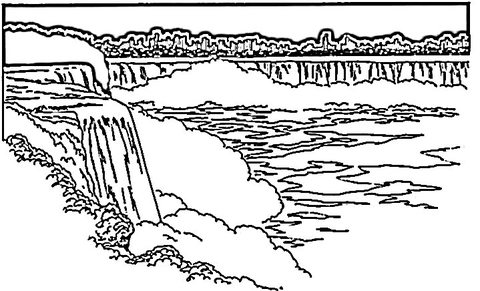 Niagara Falls clipart Coloring Pages Waterfalls coloring pages
