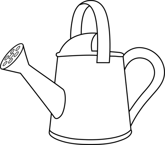 Watering Can clipart plant needs Free Can Cartoon Outline Can