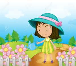 Garden clipart flower cartoon #7