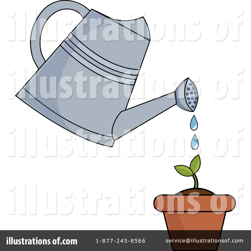 Watering Can clipart cartoon Illustration (RF) Free Clipart #1058310