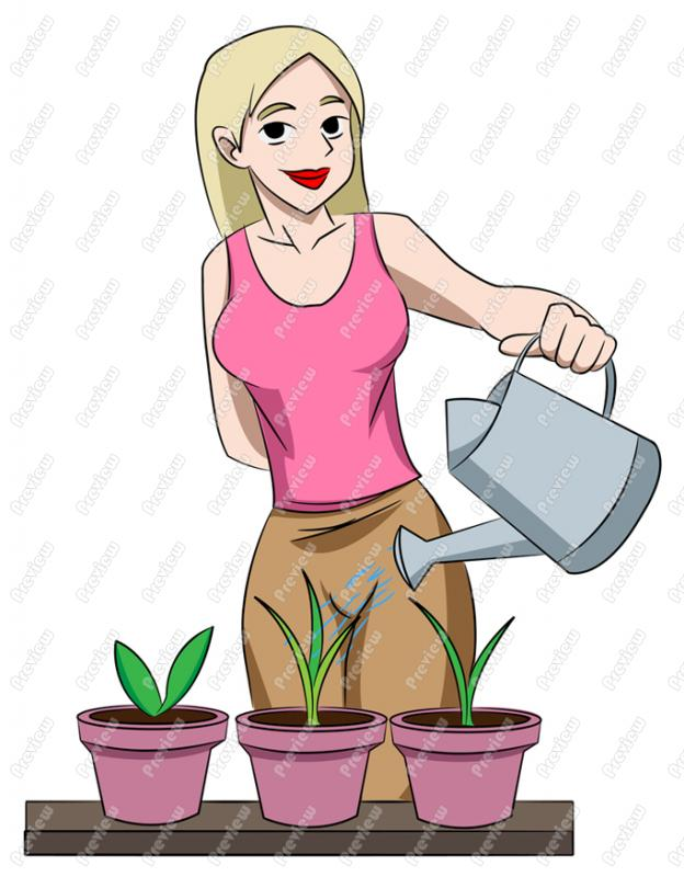 Watering Can clipart cartoon Plants Watering  Watering Character