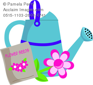 Watering Can clipart cute Image Can of Flower a