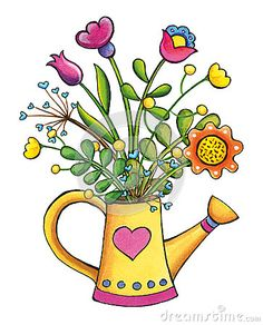 Watering Can clipart cute Hand illustration drawn This clip