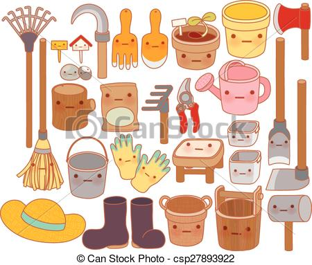 Watering Can clipart cute Adorable Illustration cute garden hat