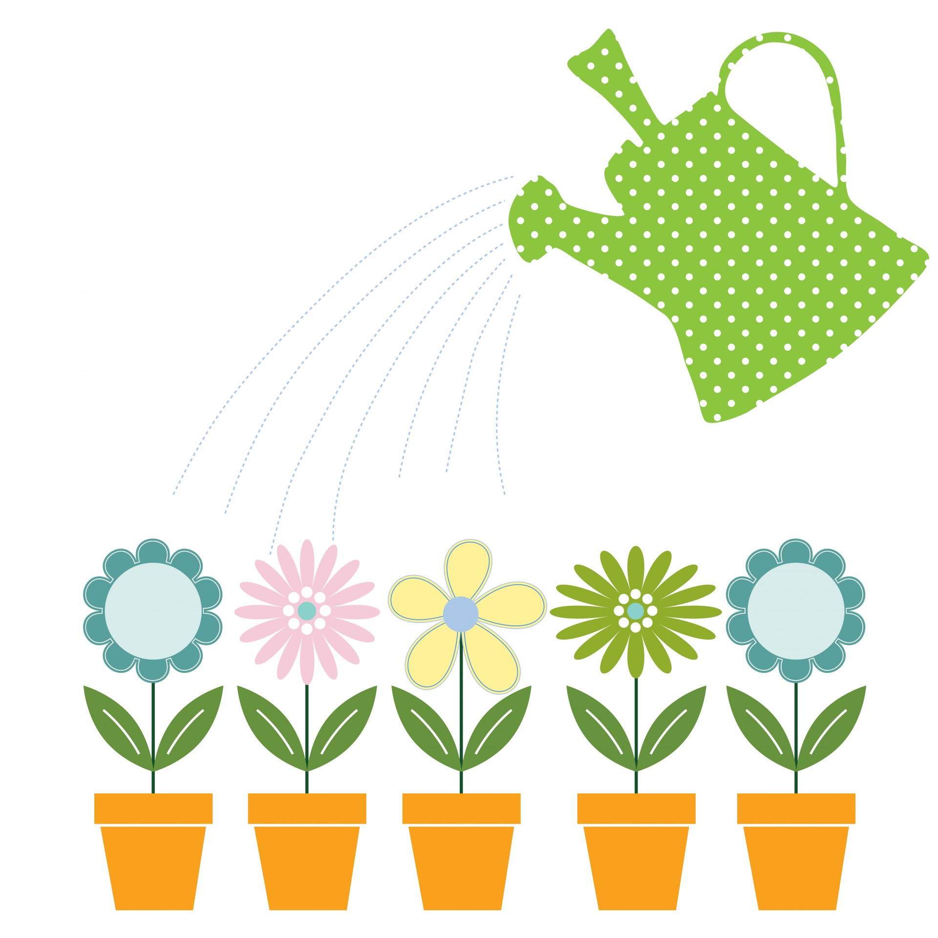 Watering Can clipart cute Watering & Can Stock Clipart