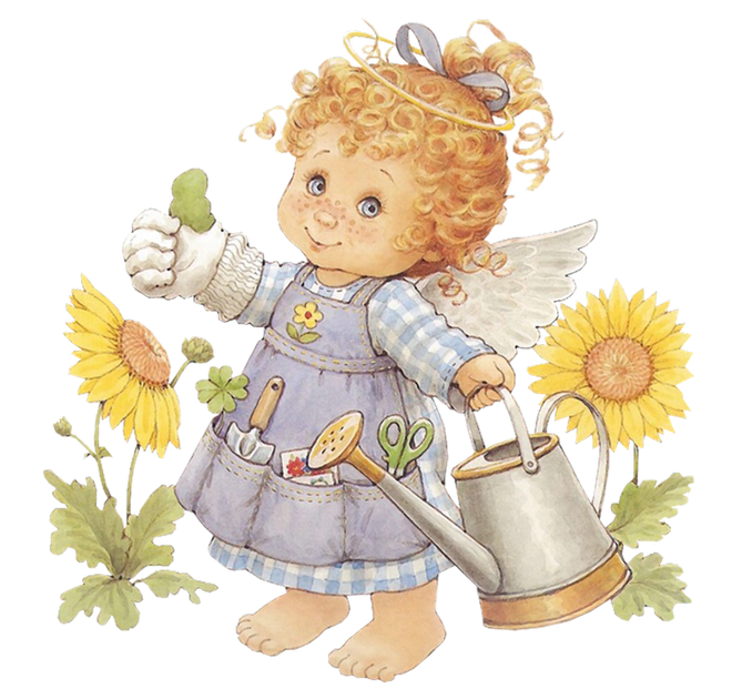 Watering Can clipart cute PNG with Cute Clipart Angel