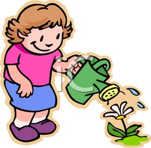 Watering Can clipart kid plant Kids Ask collection flowers clipart