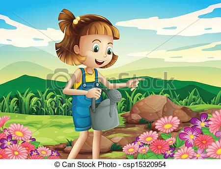 Watering Can clipart kid plant Watering plants little of A