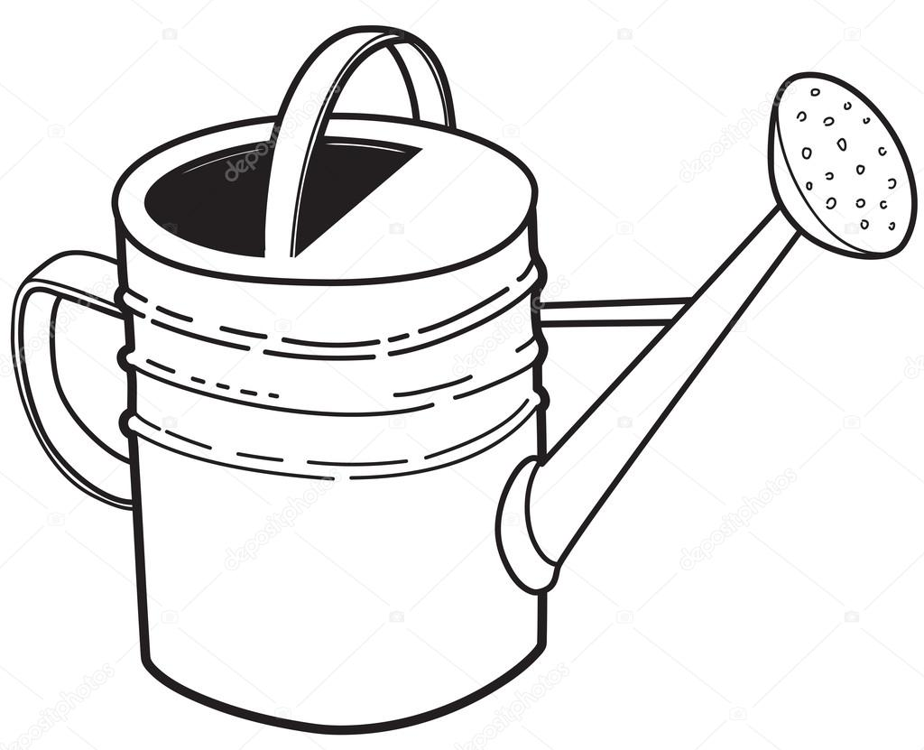 Watering Can clipart large Large garden can Stock #113900402