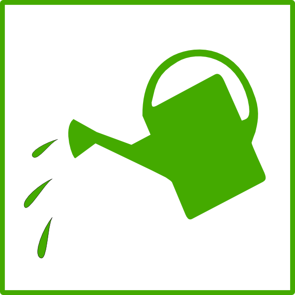Watering Can clipart large PNG: small medium Clker Watering