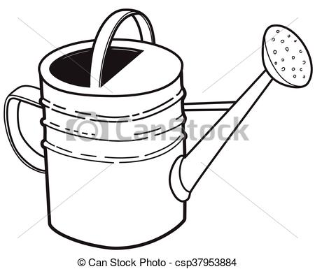 Watering Can clipart large Large garden can of Large