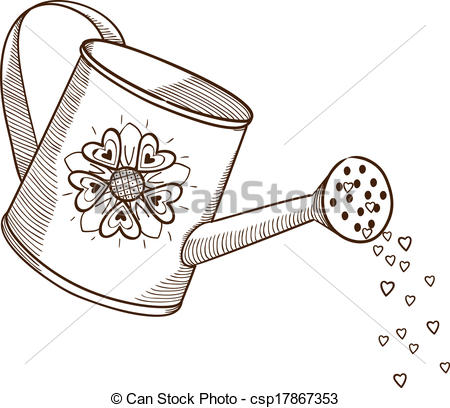 Watering Can clipart plant needs Sketch Watering element flowers pictures