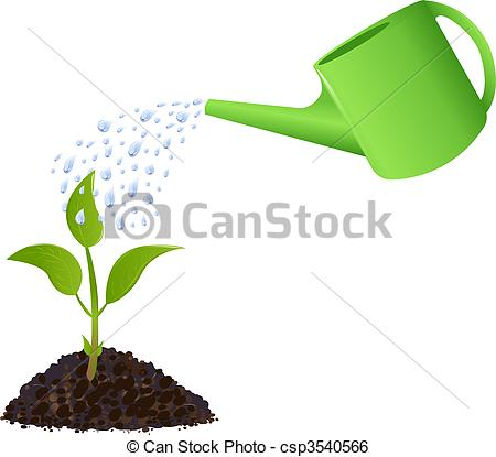 Watering Can clipart plant needs Watering Vector Clip with plant