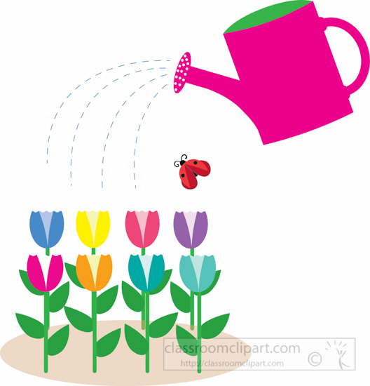 Tulip clipart watering can #9