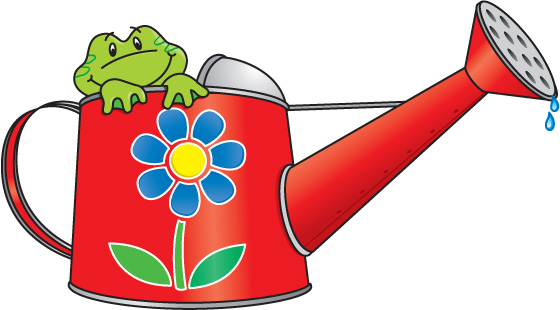Watering Can clipart spring  Connie Real FROG Estate