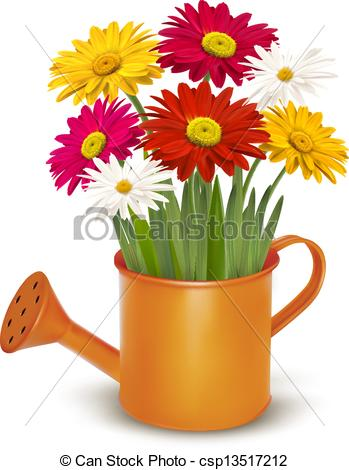 Watering Can clipart spring Vector of orange can illustration
