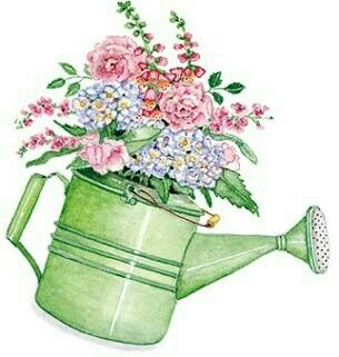 Watering Can clipart spring bouquet Flowering best Pinterest images about