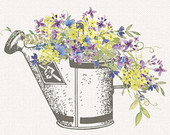 Watering Can clipart spring bouquet To Spring Watering Watering Clip