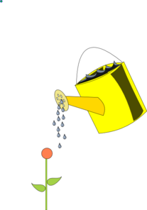 Watering Can clipart water can Watering com Outlined Clip Can