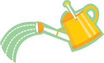 Watering Can clipart yellow Search clipart Clipart watering With