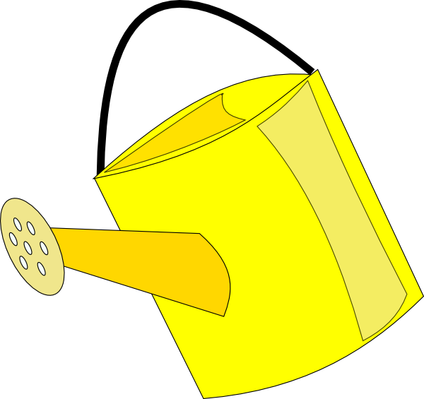 Watering Can clipart yellow Watering vector Art Empty clip