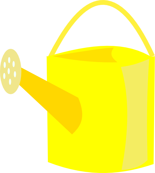 Watering Can clipart yellow Can clip at Yellow art