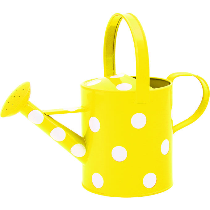 Watering Can clipart yellow Watering com Polka com Yellow