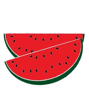 Gourd clipart border Clipart White And Watermelon Black