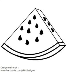 Watermelon clipart black and white In Pix For Drawing pics
