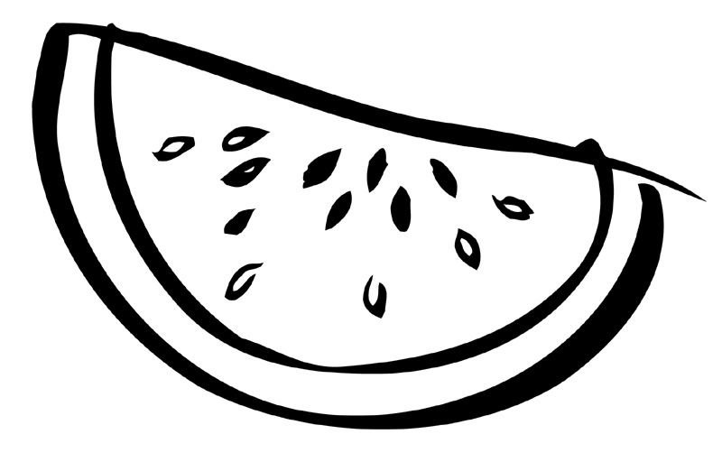 Watermelon clipart black and white Watermelon Clip Media  2014