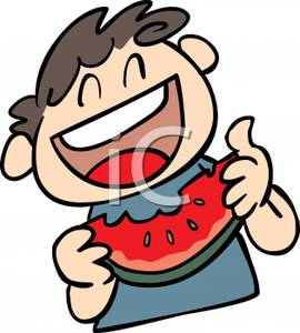 Watermelon clipart eaten Art Image Slice a Boy