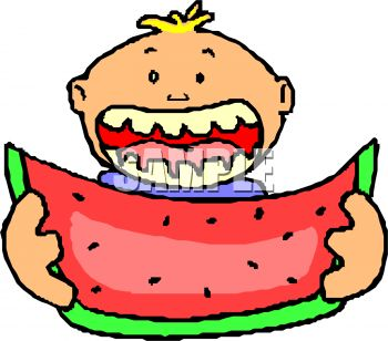 Watermelon clipart eaten Art Search clipart eating Clip