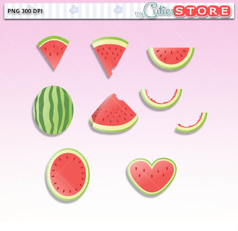 Watermelon clipart funny Kawaii Doodle This digital Watermelon