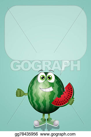 Watermelon clipart funny Illustration Stock  Stock Clipart