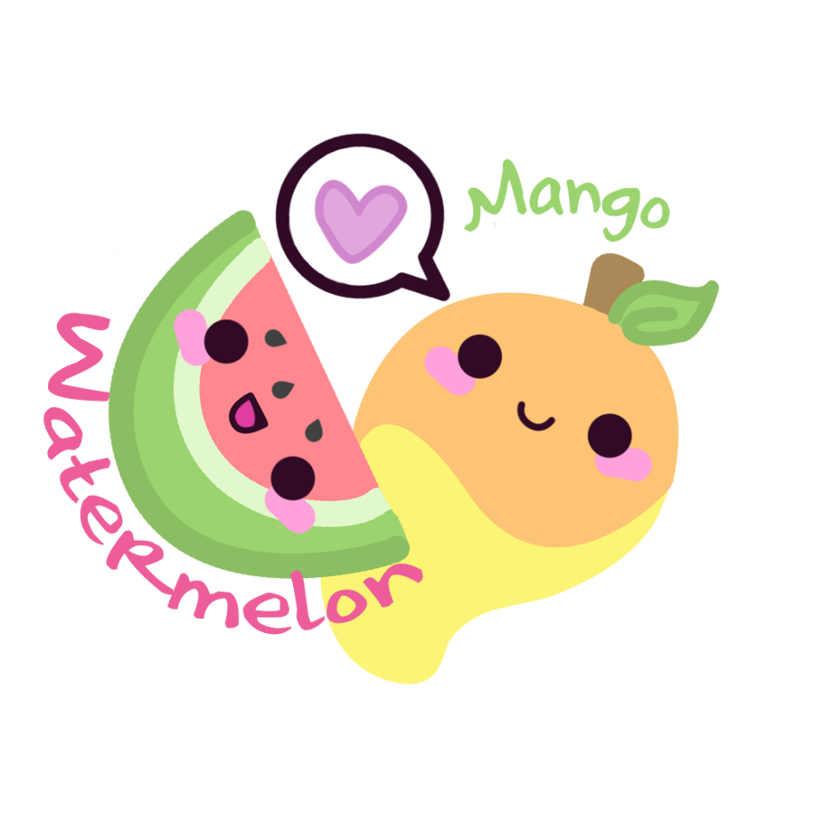 Watermelon clipart kawaii By Store Mango Store Watermelon