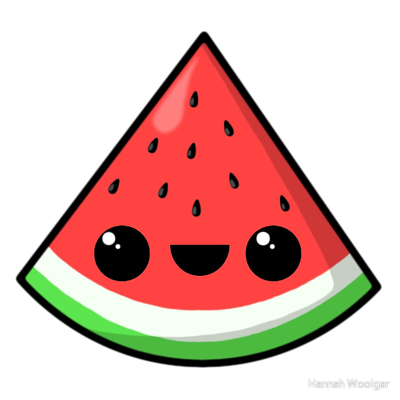 Watermelon clipart kawaii Prints by kawaii watermelon
