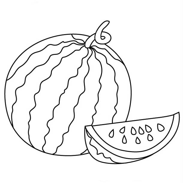Watermelon clipart line drawing Pages clipart coloring Pages