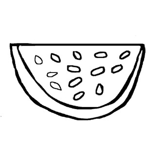 Watermelon clipart outline In outline Google outline watermelon