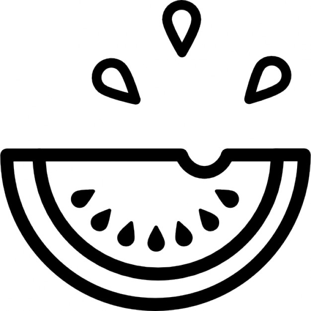 Watermelon clipart outline Icons outline Watermelon Download slice
