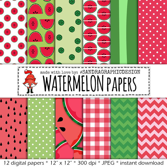 Watermelon clipart paper Clipart: Paper with