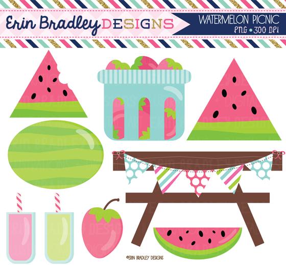 Watermelon clipart paper Graphics Bradley digital  &