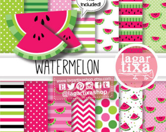 Watermelon clipart paper Party for Fuchsia Hot Dots