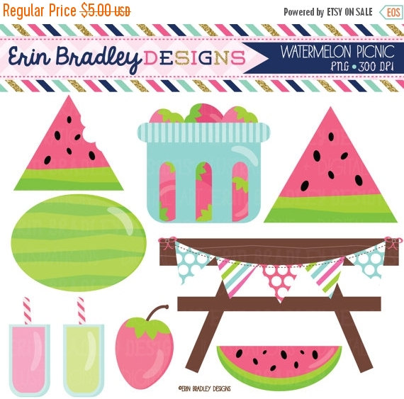 Watermelon clipart picnic food Strawberries Instant Picnic Watermelon Party