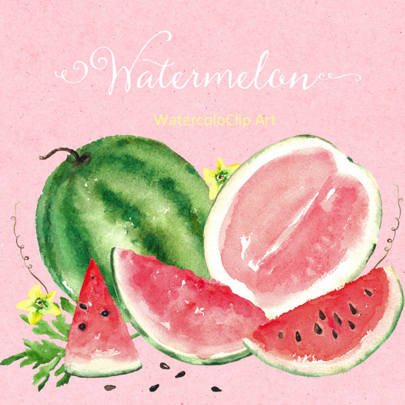 Watermelon clipart red fruit Watermelon Romantic clipart clipart clipart